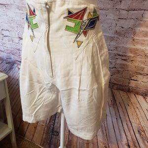 Vintage Cache '80's Shorts.  High Rise.  Patchwork
